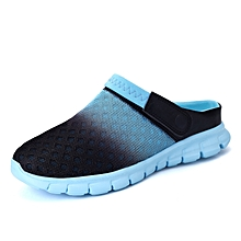 ZEACAVA Men Summer  Breathable Mesh Summer Beach Slippers-POWDER BLUE