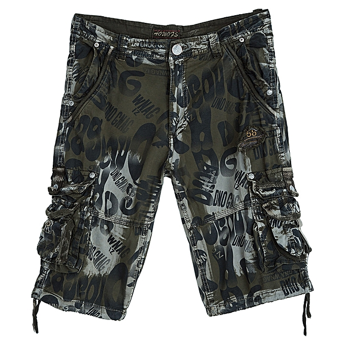 1e0e4feaae Buy Fashion Men Outdoor Camouflage Beach Shorts - Army Green @ Best ...