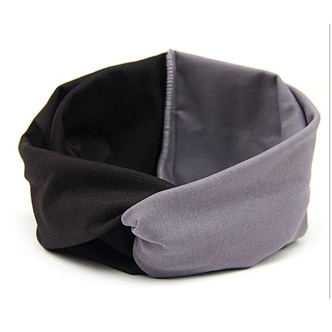 f4976466ddc Women Double Color Cross Sport Yoga Cloth Headband Turban Headscarf Wrap GY  ...