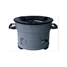 Jiko Fresh Charcoal Stove - 26cm Stove Top - Grey