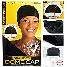 2pcs Black Spandex Dome Cap