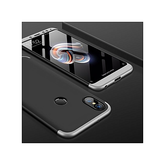 wholesale dealer 40778 65e33 GKK Xiaomi Redmi Note 5 Pro Three-paragraph 360 Degree Full Coverage PC  Protective Case Back Cover (Black+Silver)
