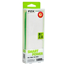 18000 Mah Portable Smart Power Bank - White/Green