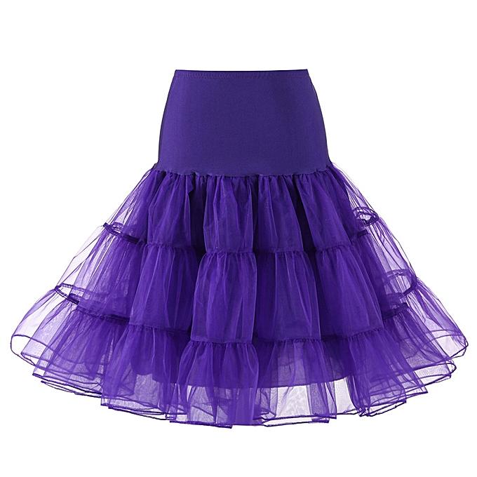 0ad5f9c86f6b jiahsyc store Womens High Quality High Waist Pleated Short Skirt Adult Tutu  Dancing Skirt-Purple