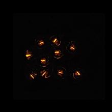1.5x6mm Tritium Tube Self-luminou Crystal Flask Leaf Keychain