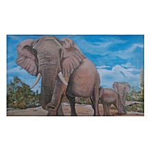 animal wall painting  - 108 by 68 cms - multicolored