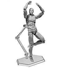 Male 2.0 Body Kun Doll PVC Body-Chan DX SET Action Figure Model For SHF [Grey]