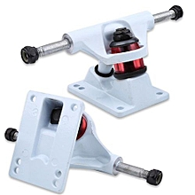 2pcs Skateboard Trucks Combo 3.25inch Skatebaord (White)