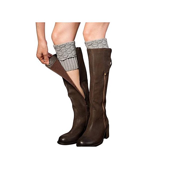 86972816a03 Women Ladies Winter Crochet Boot Cuffs Shell Knit Toppers Boot Socks Leg  Warmers