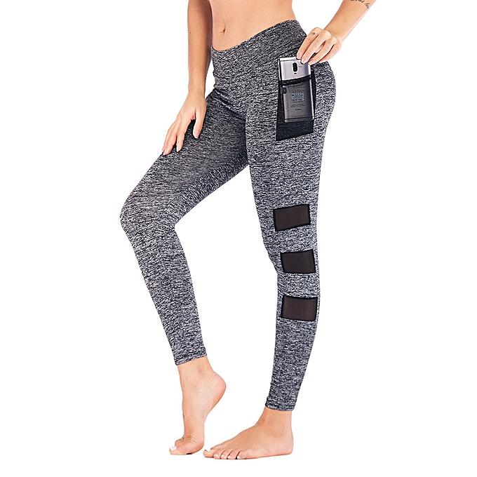 193d42f5b2827 aficashop Fashion Women High Waist Yoga Pants Side Cell Phone Pockets  Sports Leggings