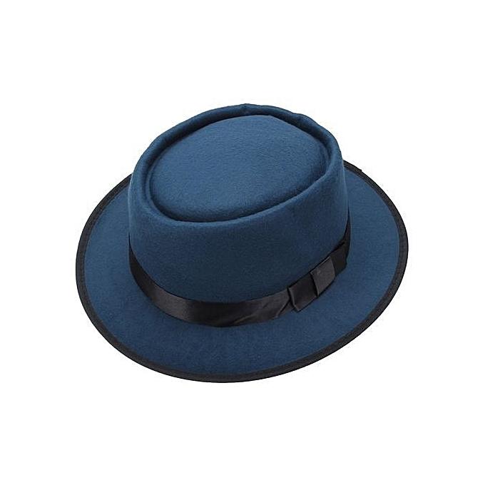 Fashion Men Women Wool Felt Round Fedora Cap Crushable Porkpie Vintage  Short Brim Hat Green 03e4459f9e2