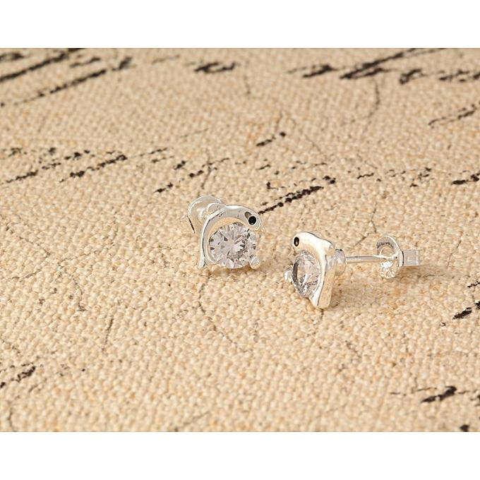 925 Sterling Silver 24k White Gold Round Cut Women S Anti Allergic Fashion Cute