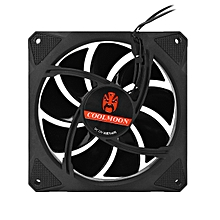 RGB Cooling Fan Quiet 6pin Dual Aura PC Casefor Computer Remote Control Adjustble LED and Fan Speed 1400RPM