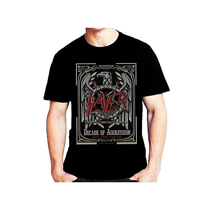 b9b04a1e733d Fashion Cotton T Shirts Slayer Decade Of Aggression T-shirt Short Sleeve  Men's Funny Cool
