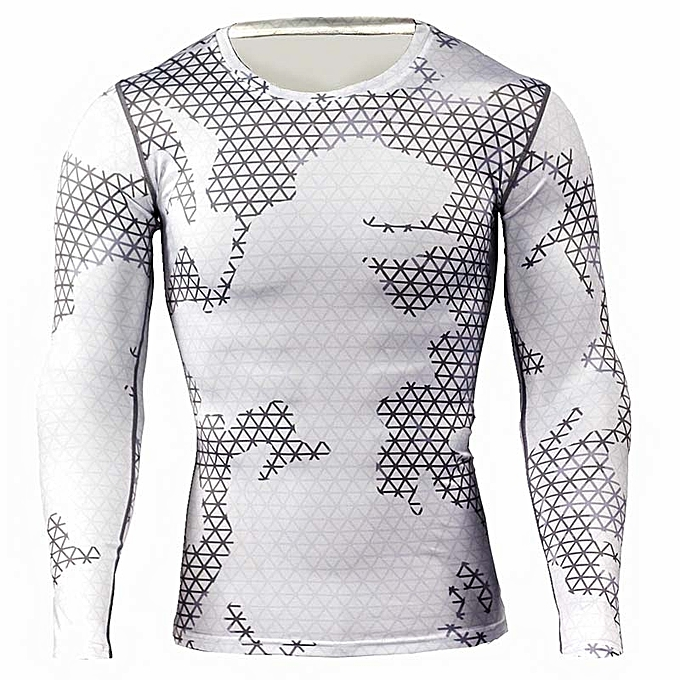 0e026323 Spring Summer Men Compression Quick Dry Sports T-shirt Bodybuilding Fitness  Gym Tops Long Sleeve