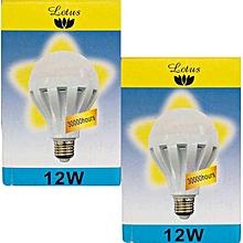 2 Pack LED Bulb - 12W -  E27  - Warm White