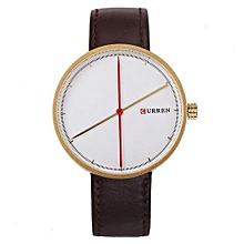 Fashion Men Quartz Watches Men Luxury Brand Men Casual Watches Leather, Curren-8223