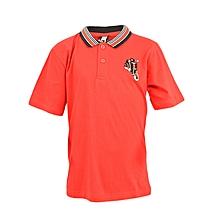 Red Short Sleeved Boys T-Shirt