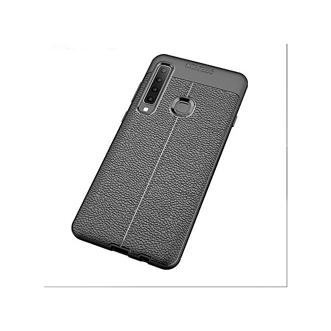 separation shoes 476ed 5b1b5 Samsung Galaxy A8 Star Silicone Case TPU Carbon Fiber Pattern Anti-knock  Phone Back Cover - Black
