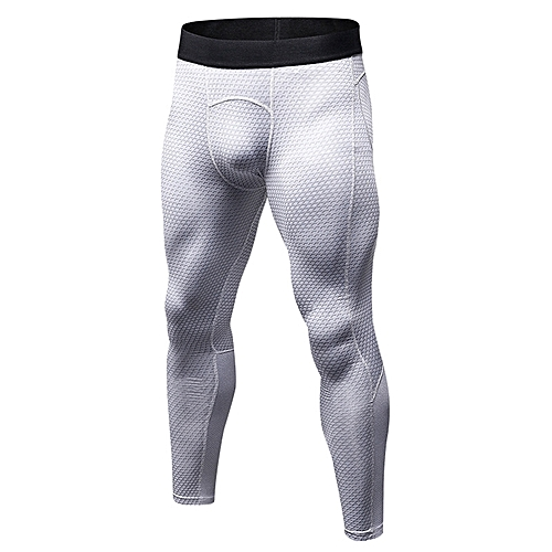 cc8b62a378026 Men's Compression Pants Sport Tights Basketball Gym Fitness Trousers  Bodybuilding Jogging Skinny Leggings Quick Dry Running Jogging Pants - white