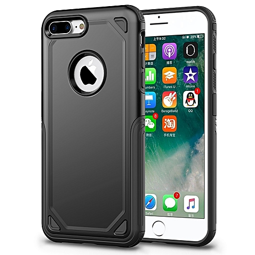 big sale 5e25d 3dd6b For iPhone 8 Plus & iPhone 7 Plus Shockproof Rugged Armor Protective  Case(Black)