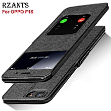 Rzants For F1S Luxury Slim【Window】View with Stand Magnetic Leather Flip Case Cover For OPPO F1S