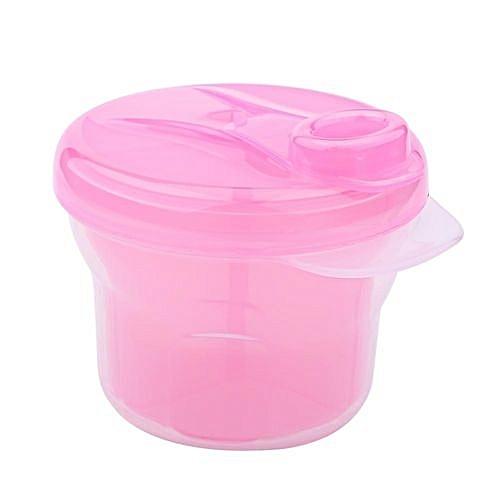 UNIVERSAL 1Pcs Portable Milk Powder Formula Dispenser Containers Baby Kids Toddler Feeding Box (Pink)