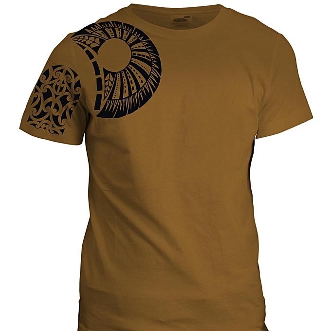 Dona Jewels Brown Samoan T Shirt Design With Black Print Best