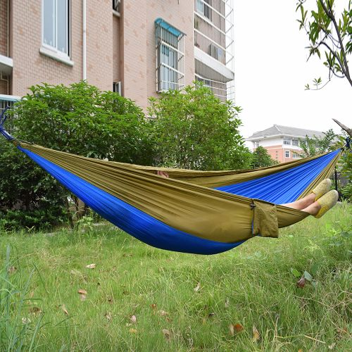 2 person portable parachute nylon fabric hammock for indoor outdoor use   sapphire blue   camel generic 2 person portable parachute nylon fabric hammock for      rh   jumia co ke