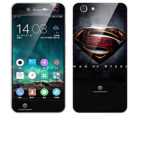 Luxury 3D Painting Front+Back Full Case Cover Color Tempered Glass Case For  Vivo Y53 Screen Protector Film (Color-1)