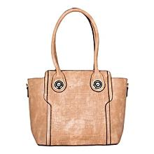 Brown PU Leather 2 in 1 Handbag