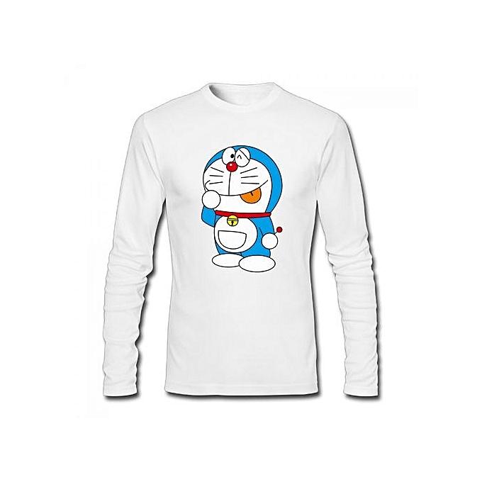 9f80edd4 Generic Doraemon Vector Men's Cotton Long Sleeve T-shirt White ...