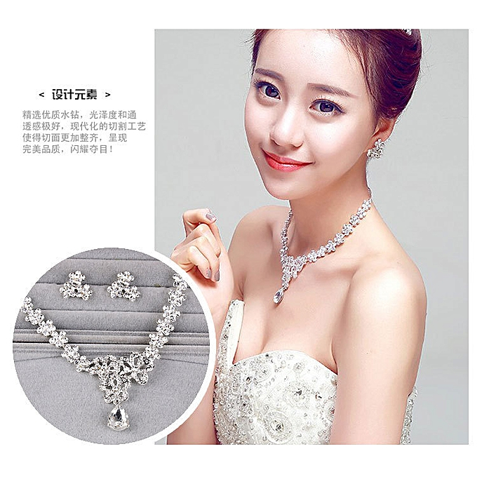 Bride decoration water drills necklace matrimony decoration