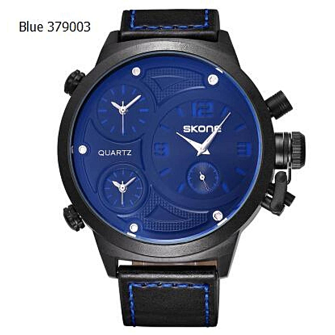 62f5c314a35 Relogio Masculino New Functional Big Case Mens Skone Watches Top Luxury  Brand Blue Quartz Military Wrist