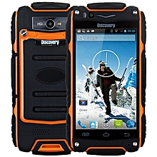 4.0 inch  V8 Android 4.4 3G Smartphone WiFi GPS Waterproof Dustproof Shockproof 4GB ROM-ORANGE