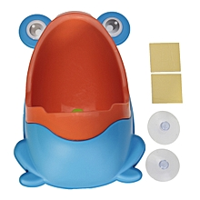 Lovely Frog Trainer Boy Kid Baby Children Potty Urine Urinal Pee Toilet Training Blue+Orange