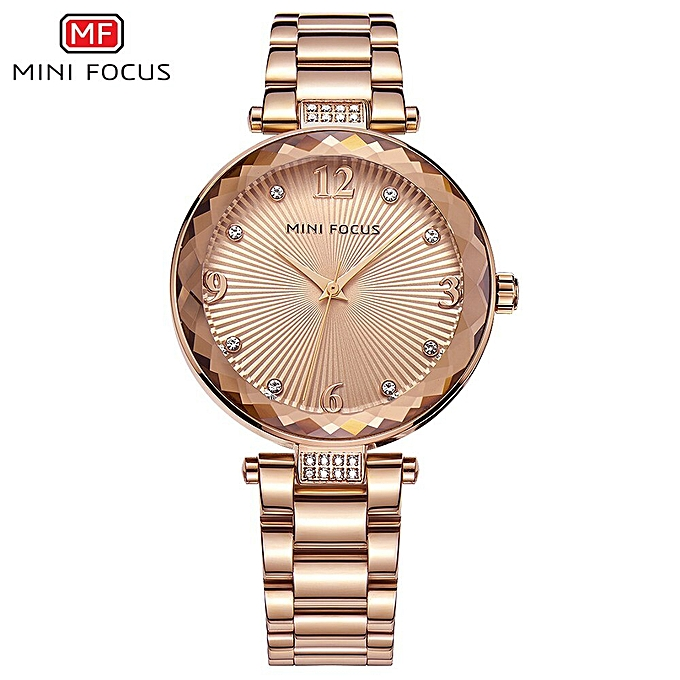 379d751755 Crystal Gold Watch Women Ladies Famous Top Brand Luxury Quartz Watch Female  Clock Montre Femme Relogio Feminino(Rose Gold Steel)