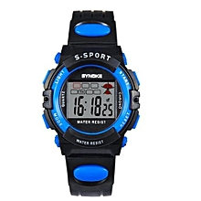 Famous Sport LED Digital Watches Men Fashion Top Brand Wrist Watch Male Electronic Clock Digital-watch(Black&Blue)