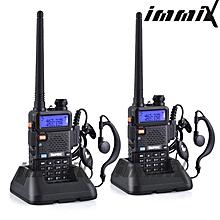 2x BaoFeng UV-5R UHF/VHF 136-174/400-520Mhz Walkie Talkie FM HAM Two Way Radio Dual Band