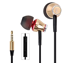 MJ900 Creative Headset Low Mass All Metal Housing Earphones With Burn-in Software CD(GOLDEN)