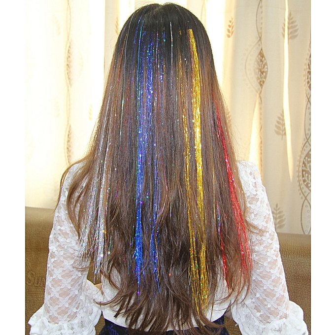 Wigs Colourful Bright Hair Splinter Colorful Silk Seven Co