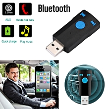 AfricanmallDN store  Wireless Bluetooth Car Kit AUX Audio USB Bluetooth Receiver Adapter-Black