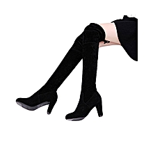 4e4c77a3d599f YJP Womens Ladies Over Knee High Heel Boots Winter Slip-on Leisure Lace-up