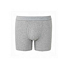 Grey Cotton Casual Fitting Boxers