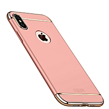 MOFI Three Stage Splicing Full Coverage PC Case for iPhone XS Max (Rose Gold)