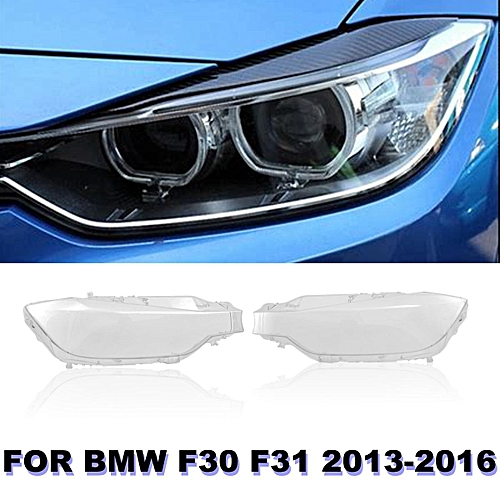 Generic Pair Front L R Headlight Lens Lenses Covers For Bmw F30