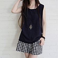 5e5ca3915dc830 Women Summer Tank Tops Sleevless Casual Loose Vest Ladies Blouse