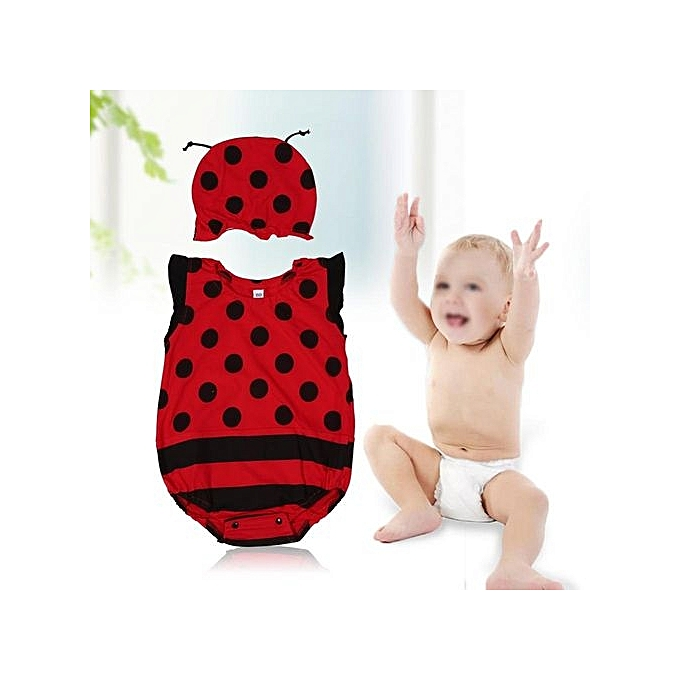 fb4772f82 UNIVERSAL Baby Unisex Cartoon Romper Bodysuit Clothing With Hat Red ...