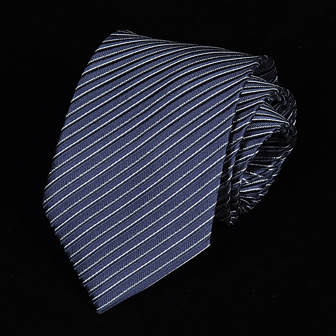 2f8a15f7a67d 8CM Business Men Tie Dress Shirt Fashion Groom Marriage Stripe Spotted Bright  Tie Blue A5806