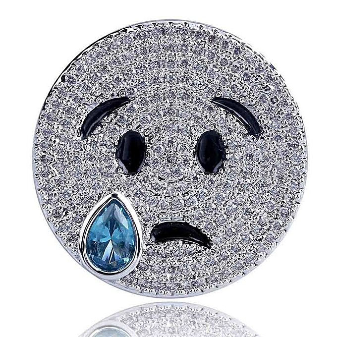 The network emoji facial expression smiles to cry a face to shed tears a  face personality a ring full Gao hip-hop tide person the breeze man's ring